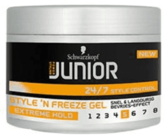Jps Schwarzkopf Junior Powerstyling Style 'N Freeze Gel Extreme Hold 200 ml