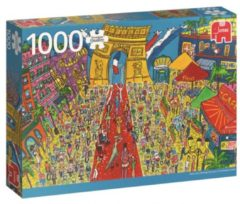 Witte Jumbo Premium Collection Puzzel Arc de Triomphe Paris - Legpuzzel - 1000 stukjes