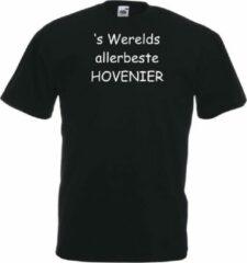 Mijncadeautje T-shirt - 's Werelds beste Hovenier - unisex Zwart (maat 3XL)