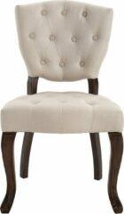 Creme witte Luxe Comfort Eetkamerstoel - Stoel - Stof - Antiek Creme
