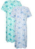 Groene Nachthemd Harmony Mint::Blauw