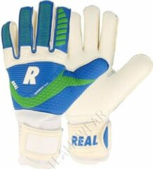 Real Match Keepershandschoenen - Wit / Royal / Groen | Maat: 9,5
