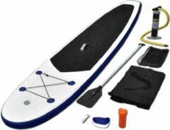 Merkloos / Sans marque Opblaasbaar SUP Board SET Blauw Wit 3 MTR - Stand-Up board - Paddleboard - SUP Board opblaasbaar - Surfplank