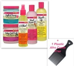 Aunt Jackies Aunt Jackie's 5-Pc Hair Set – Heads Up Shampoo + Soft & Sassy Conditioner + Knot Havin' It! Moisturizer + Baby Girl Curls Custard + E-Blast Scalp Remedy