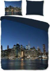 Blauwe Beddengoed Zachte Dekbedovertrek Lits-Jumeaux New York City | 240x200/220 | Soepel En Kleurecht | Strijkvrij