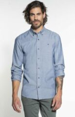 Blauwe Scotch & Soda Casual Overhemd Heren lange mouw