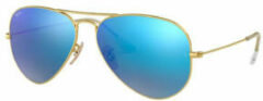 Gouden Ray-Ban® Ray-Ban Aviator Large Metal Flash Lenses RB3025-112/17-58