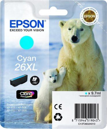 Afbeelding van Epson Singlepack Cyan 26XL Claria Premium Ink (C13T26324010)