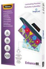 Transparante Fellowes lamineerfolie ImageLast A3, 80 micron, 100 stuks