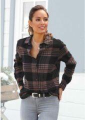 Paarse LASCANA flanellen blouse
