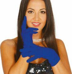 Fiestas Guirca Handschoenen Amarillos 20 Cm Polyester Blauw