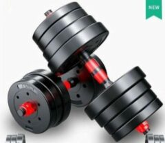 Rode Merkloos / Sans marque Halterset Dumbbellset Dumbells Totaal 30kg 2x 15kg - dumbells