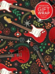Rode Hal Leonard Wrapping Paper - Red Guitar Theme
