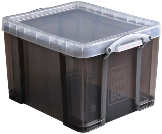 Afbeelding van Really Useful Box opbergdoos 35 liter, transparant gerookt