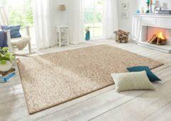 BT Carpet Vloerkleed Wol-optiek - beige/bruin 60x90 cm
