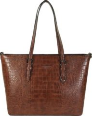 Flora & Co Shoulder Bag Shopper Croco Camel
