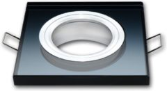 Groenovatie LED line Inbouwspot - Vierkant - Glas - GU5.3 Fitting - 90x25 mm - Zwart
