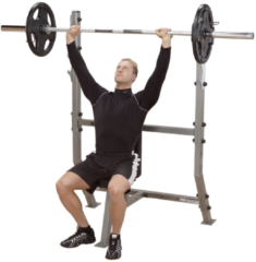 Body-Solid Pro Club Line Shoulder Press Olympic Bench