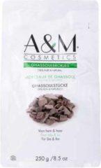 Bruine A&M cosmetics GHASSOUL/GHASSOULBROKJES/RHASSOUL, biologische gezicht&haarmasker 250g