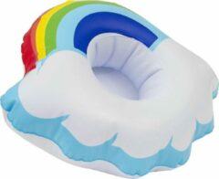 Bolletje products Opblaasbare Wolk met Regenboog Drankhouder - Bekerhouder - geschikt voor in het zwembad - voor in de jacuzzi - Drijvend - Regenboogwolk