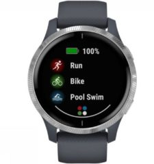 Blauwe Garmin VENU - Multisport - Smartwatch - Bluegranite/stainless