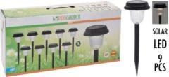 Zwarte Pro Garden ProGarden Solar LED Tuinverlichting - Set van 9