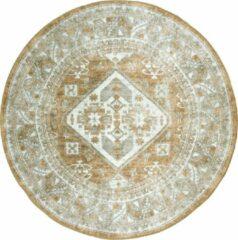 Bruine Home67 Vloerkleed Laria - Rond ø120 cm - Brown 5 - Vintage - Trend