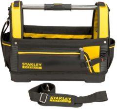 """Gele STANLEY FatMax Open Gereedschapstas 18"""" - comfortabele handgreep - met schouderriem"""