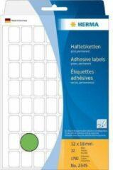 Merkloos / Sans marque Huismerk Herma 2345 Universele Etiket 12x18mm Groen - 1792 etiketten
