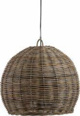 Naturelkleurige WOOOD Exclusive Mooze Hanglamp - Rotan - Naturel - 50x60x60