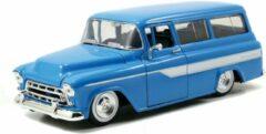 Chevrolet Suburban 1957 (Blauw) (20cm) 1/24 JADA - Modelauto - Schaalmodel - Model auto - Miniatuurautos - Miniatuur auto