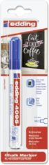 Edding - Krijtmarker e-4095 - Op blister - Blauw - krijtmarkers - raamstift - raamstiften - chalkmarker – krijtstift – glasstift – schoolbordstift – krijtbordstift – stoepbordstift