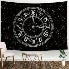 Ulticool - Heelal Horoscoop Zodiac Tarot Zwart Wit - Wandkleed - 200x150 cm - Groot wandtapijt - Poster