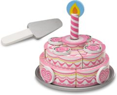 Roze Melissa & Doug - Houten Drielaags Party Taart snijtaart