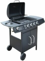 VidaXL Gasbarbecue 4+1 kookzone zwart