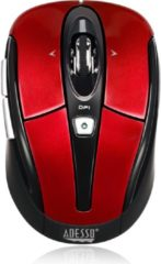 Adesso iMouse S60R USB Optisch 1600DPI Rechtshandig Rood muis