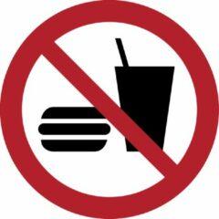 Rode Tarifold Pictogram bordje Eten en drinken niet toegestaan | Ø 300 mm - verpakt per 2 stuks
