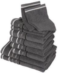 CLASS HOME COLLECTION Handtuchset XXL, grau, 10-teilig