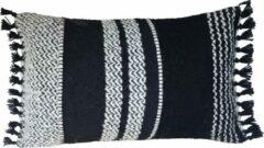 Zwarte Malagoon Berber basalt cushion