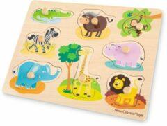 New Classic Toys Houten Legpuzzel Safari Dieren - 8 puzzelstukjes - FSC® 100%-gecertificeerd hout