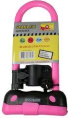 Stahlex fietsslot 95 x 240mm / Ø10mm met slothouder Het eerste beugelslot voor uw kind roze