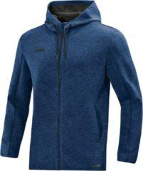Blauwe Jako Premium Basics Hoodie - Marine Gemeleerd | Maat: XL
