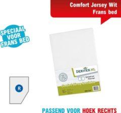 Dexitex Frans bed wit Hoeslaken Jersey katoen,Caravan,Camper RECHTS