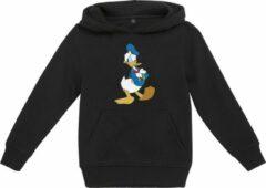 Disney Donald Duck Kinder hoodie/trui -Kids 122- Donald Duck Pose Zwart