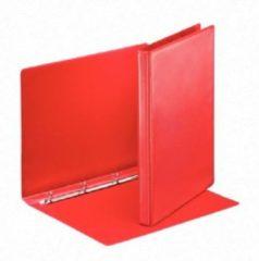 Rode Esselte personaliseerbare ringmap, rug van 3 cm, 4 O-ringen van 16 mm, rood