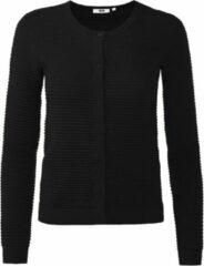 Zwarte WE Fashion Dames vest met ribstructuur - Maat M