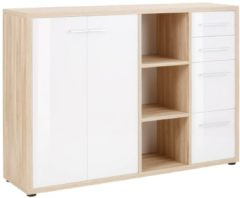 Witte Bermeo Dressoir Banco 156 cm breed - Eiken met wit