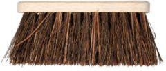 Bruine Talen Tools bezem met natuurvezel haren 28 cm
