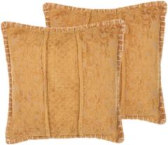 Beliani KAVALAM Sierkussen set van 2 Viscose 45 x 45 cm