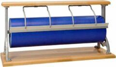 MTis Papierrolhouder Tafelmodel Serie Beukenhout- Breedte 30 cm - m lang - Breedte 30 cm - Kartel mes voor folie - Standaard beugel - MTok-TaB-T30AF